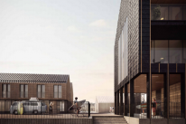 Artist impression elevations for the proposed development of South Quay in Hayle harbour